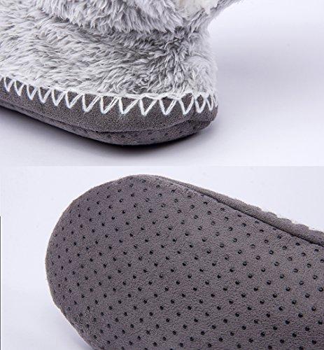 Anti la Flou Mignon Animal 1 Hiver Pantoufle Maison Glissement MaaMgic Intérieur à Chaussons Femme IqYPAwA1