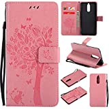 Huawei Mate 10 Lite Wallet Case, UNEXTATI Leather Flip Cover Case with Kickstand Feature for Huawei Mate 10 Lite (Pink #3)