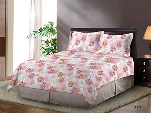 Bombay Dyeing Cardinal 100% Cotton Double Bedsheet with 2 Pi
