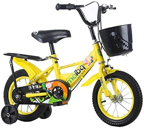 """YSA キッズバイク12""""14"""" 16""""子供用自転車、2〜8歳の女の子と男の子に適しており、補助輪とハンドブレーキ自転車が付いています"""