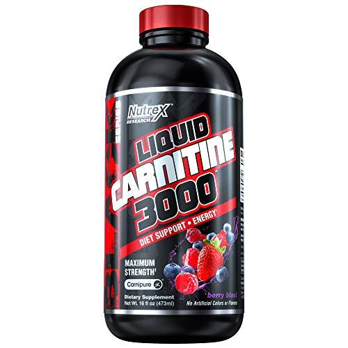 Nutrex Research Liquid Carnitine 3000 | Premium Liquid Carnitine, Stimulant Free, Fat Loss Support | Berry Blast
