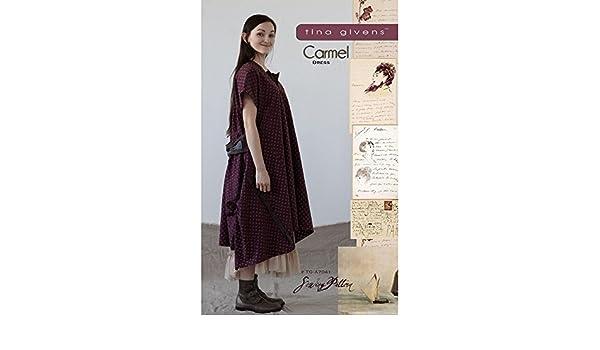 """TINA GIVENS /""""CARMEL DRESS/"""" Sewing Pattern"""