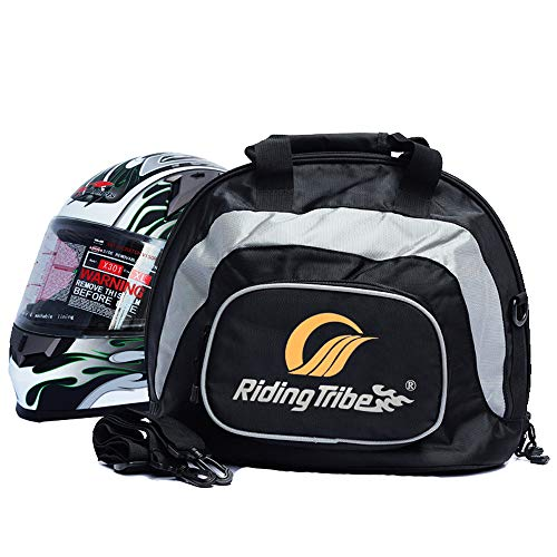 Riding Tribe Durable Deluxe Large Duffel Travel Weekender Bag Packable Carry Luggage Overnight Motorcycle Full Face Helmet Bag