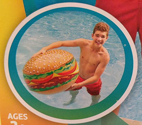 Kids Summer Backyard Pool Lake Beach Fun Outdoor Hamburger Beach Ball