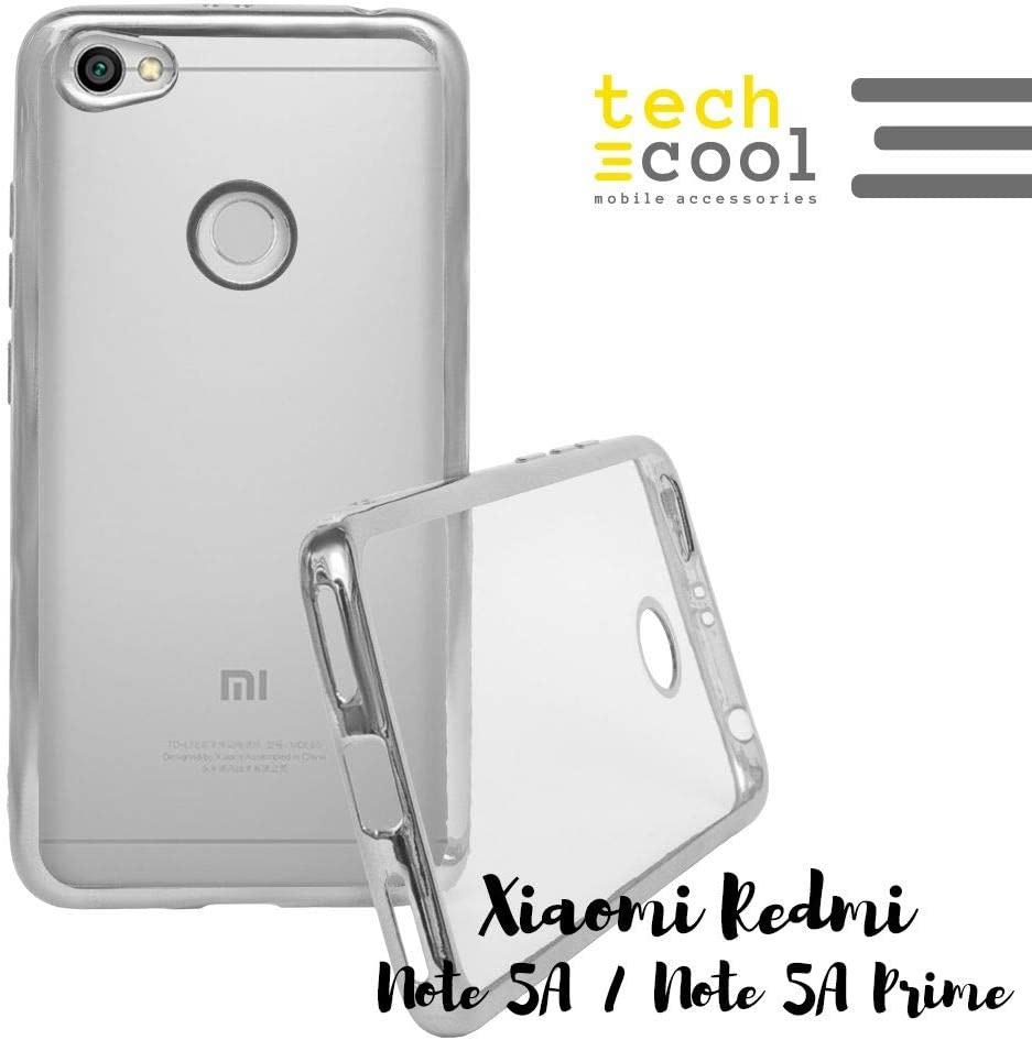 Funda Borde Color para Xiaomi Redmi Note 5A / 5A Prime Techcool® I Funda Gel TPU Fabricada en Silicona Flexible Borde Lateral en Diferentes Colores I Carcasa Case Funda Móvil: Amazon.es: Electrónica