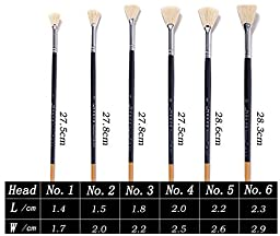 Paint Brush Lot 6pcs/set different shape Bristle Hair Round Point Wooden Handle Painting Brush Gouache Acrylic Watercolor Brush Art Supplies