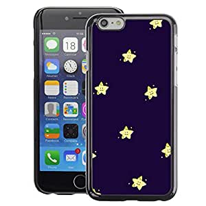 A-type Arte & diseño plástico duro Fundas Cover Cubre Hard Case Cover para Apple (4.7 inches!!!) iPhone 6 / 6S (Stars Happy Kids Purple Blue Night)