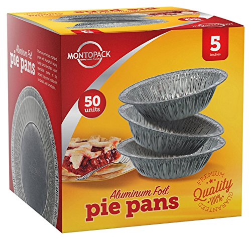 Tin Foil Pie/Tart Pans Freezer & Oven Safe Disposable ...