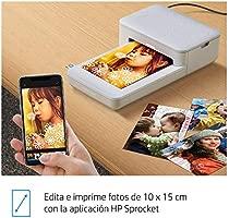HP Sprocket Studio - Impresora fotográfica portátil (tecnología de sublimación del Color, Bluetooth, 10 x 15 cm Impresiones)