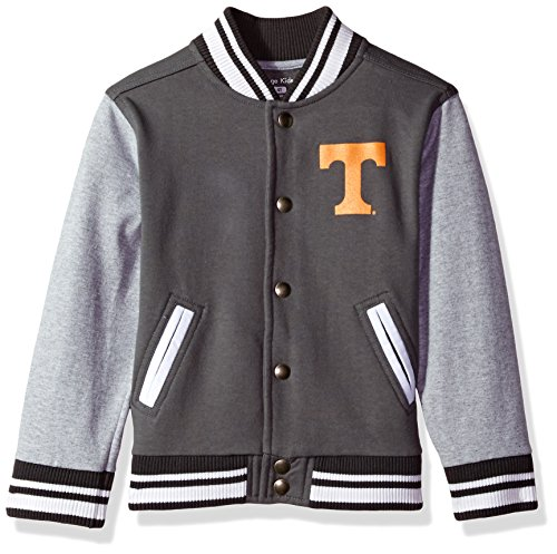 NCAA Tennessee Volunteers Children Unisex Toddler Letterman Jacket, 3 Toddler, Pewter/Oxford