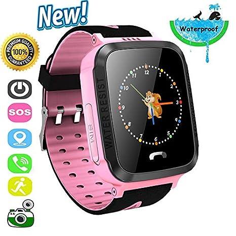 Niños Inteligente Relojes/GPS Kids SmartWatch con Camara/SOS Reloj Infantil Smartwatch Anti-