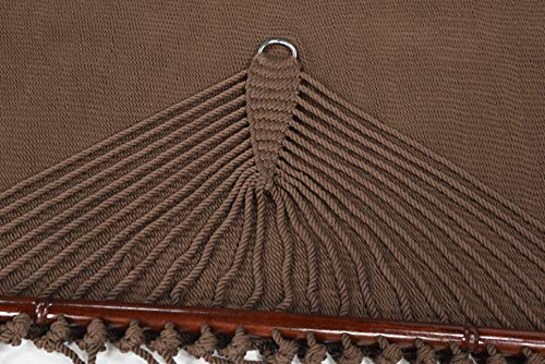 Garden and Outdoor Caribbean Hammocks Jumbo 55 INCH – Soft-Spun Polyester (Mocha) hammocks