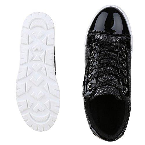 napoli-fashion - Zapatillas Mujer negro y blanco