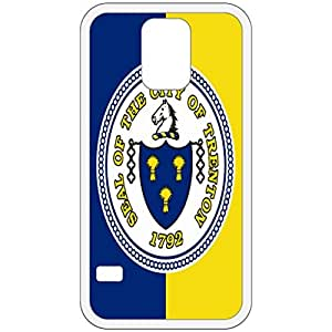 Trenton New Jersey NJ City State Flag White Samsung Galaxy S5 Cell Phone Case - Cover wangjiang maoyi