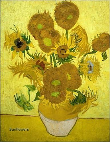 sunflowers journal notebook graph paper grid paper 120 pages 1 cm squar sunflowers by vincent van gogh