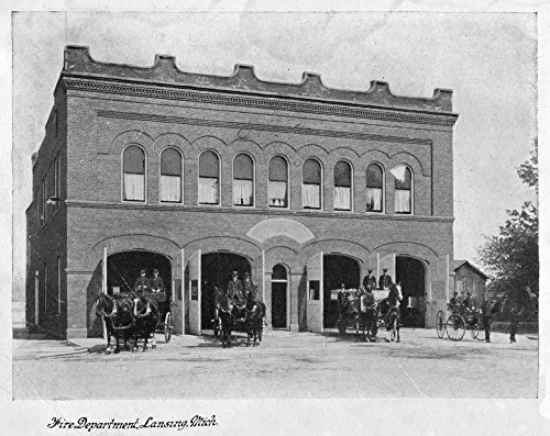 Lansing, Michigan - Fire Department Exterior Photograph (36x54 Giclee Gallery Print, Wall Decor Travel Poster) (Lansing Anderson Park)