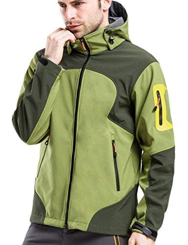 Veste Glestore vent Avec Pour Imperméable Sport Softshell Coupe Vert Camping Pêche De Ski Capuche Chasse Pluie Homme rqdprwC