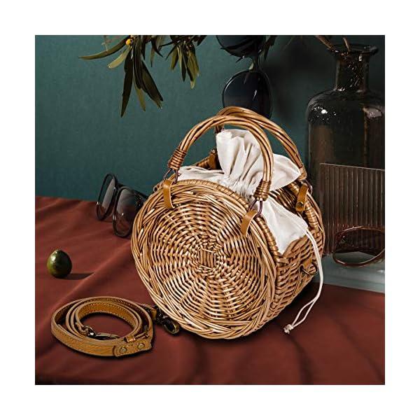 Handmade Woven Round Straw Handbag
