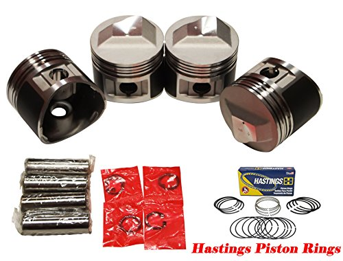 Bmw Piston Ring - QSC Pistons Set for BMW 2002tii E12 M10 72-75 11251261881 89.5mm w/Piston Rings