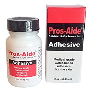 """Pros-Aide """"The Original"""" Adhesive 2 oz. By ADM Tronics - Professional Medical Grade Adhesive. Dries Clear."""