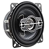 """DS18 SLC-N4X Coaxial Speaker - 4"""", 4-Way Speaker, 140W Max Power, 35W RMS, Woofer, Midrange, and Tweeters in one, Removable Cover Included - SELECT Speakers Provide Undiscovered Value - 2 Speakers"""