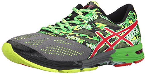 ASICS Men's Gel-Noosa Tri 10 Running Shoe,Carbon/Fiery Red/Green,8.5 M US by ASICS