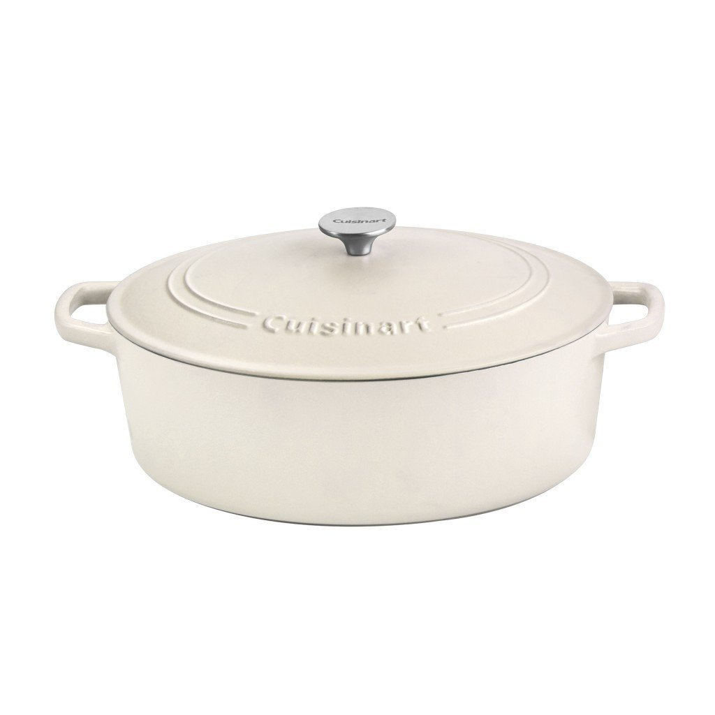 Cuisinart 7 qt white dutch oven pan.