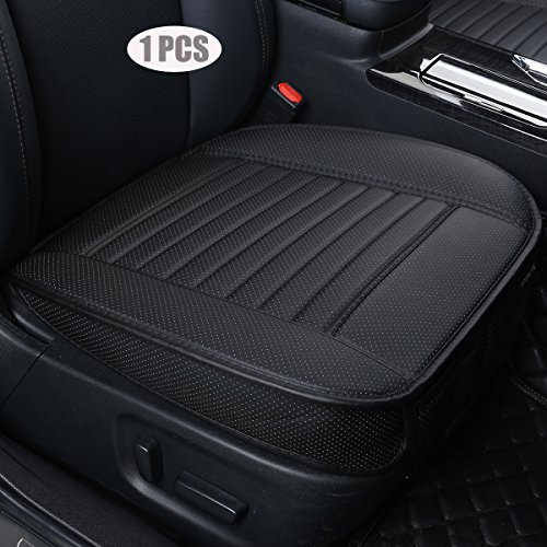 nterior Seat Cover PU Leather Without backrest Front Seat Protection Car Seat Cover - Backless Seat Cover,Deep20 inch × Width20 inch × Thick 0.4 inch(Black-3D) ()