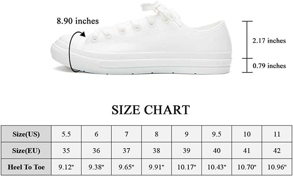 DKSUKO Womens Rain Boots Waterproof High Top Rain Shoes with Lace Up Anti-Slip Garden Shoes