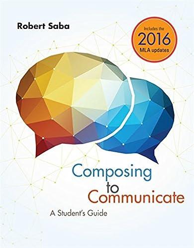 amazon com composing to communicate a student s guide 2016 mla rh amazon com Fife Web Guide Edge Guide Systems