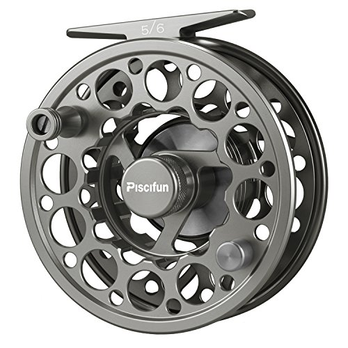 Piscifun Sword Fly Fishing Reel with CNC-machined Aluminum Alloy Body 7/8 Space Gray