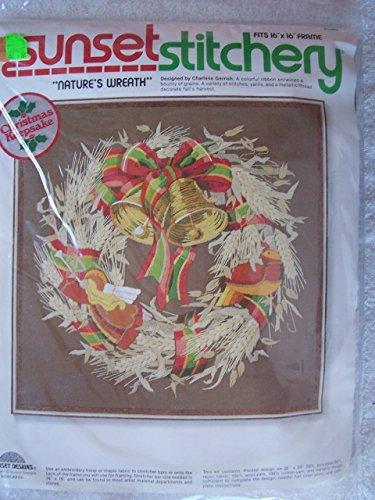 Vintage 1978 Sunset Stitchery