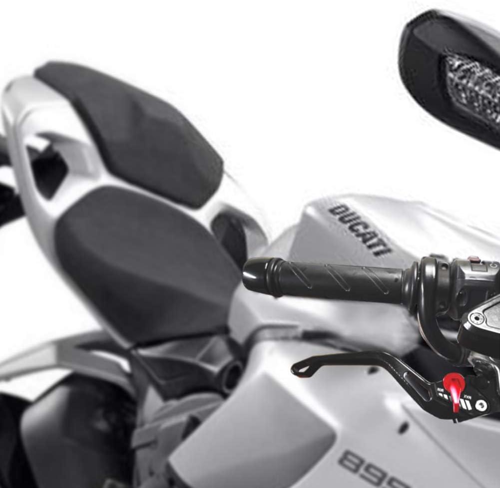 Auzkong Kupplung Motorrad Für Ducati 1199 S Tricolor 2012 2015 899 Panigale 2014 2015 Streetfighter 848 2012 2015 Bremshebel Motorrad Hebel Schwarz Auto