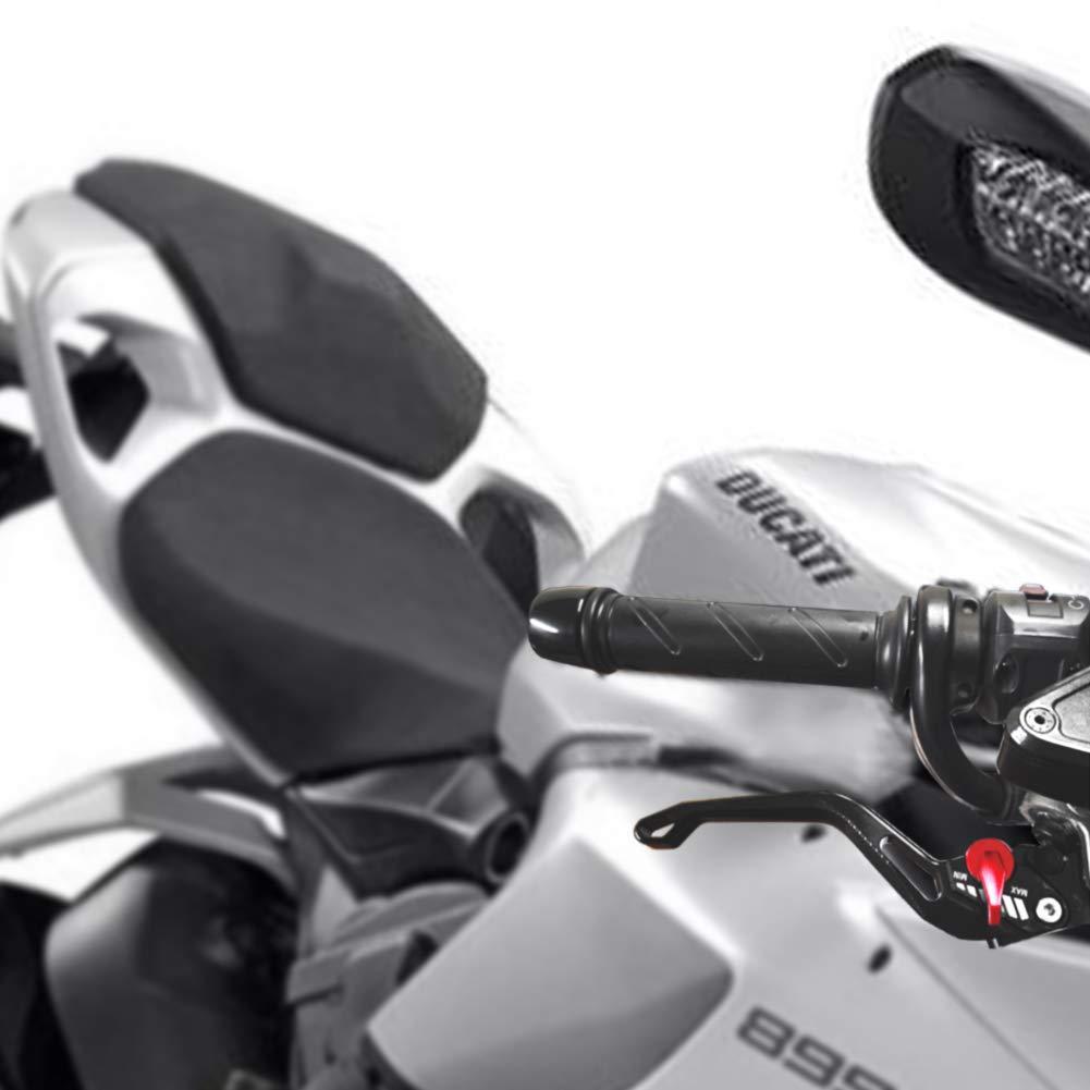 1199 Panigale//S//Tricolor 2012-2015 noir Auzkong Courte de Frein Dembrayage Leviers R/églables pour Ducati MULTISTRADA 1200//1260//S//GT 2010-2018