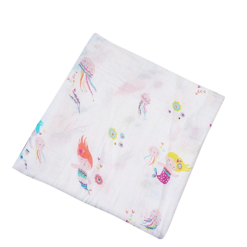 Minuya Baby Muslin Swaddle Blanket -Cotton Baby Swaddle Wrap Towel Mat Air Conditioning Blanket for Baby Girl Boy Burping Cloths /& Stroller Cover