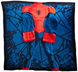 Marvel Spider-Man, Spider Up Youth Comfy Throw Blanket with Sleeves, 48'' x 48''