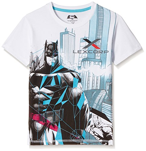 Dawn of Justice Boys' T-Shirt (DJ0EBT1702_White_5 - 6 years)