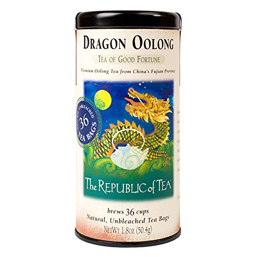 - The Republic of Tea Dragon Oolong Tea, 36 Tea Bag Tin