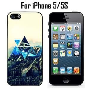 Hipster Super Literary Mountain Custom Case/ Cover/Skin *NEW* Case for Apple iPhone 5/5S - Black - Plastic Case (Ships from CA) Custom Protective Case , Design Case-ATT Verizon T-mobile Sprint ,Friendly Packaging - Slim Case