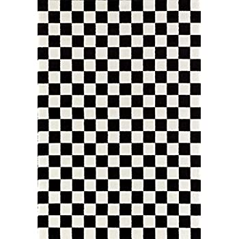 Amazon Com Custom Checkered Area Rugs Carpet Black White