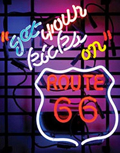Cozyle Glass Bright Neon Light Route 66 Neon Sign 19