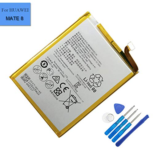 (Li-Polymer New Replacement Battery HB396693ECW Compatible with Huawei Ascend Mate 8 M200-UL00 Mate 8 Mate 8 Dual SIM TD-LTE NXT-AL10 NXT-CL00)