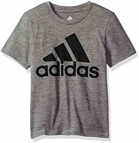 adidas Boys' Short Sleeve Logo Tee Shirt