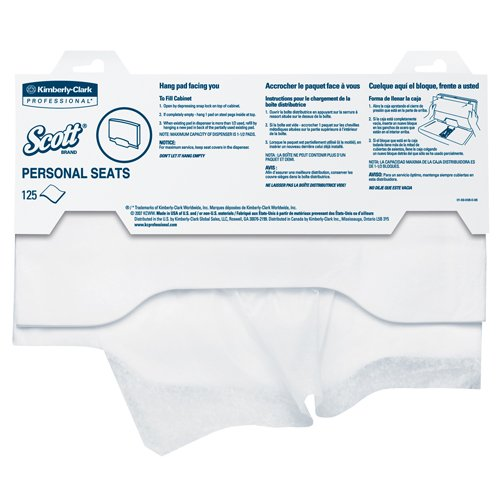 Kimberly Clark Professional SCOTT Personal Sanitary Toilet Seat Covers, 15'' x 18'' (125/Pack) (8 Packs) - BMC-KIM 07410PK