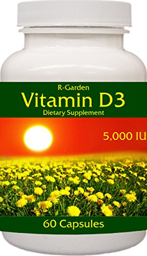 R-Garden Vitamin D3-5,000 IU, 60 caps.