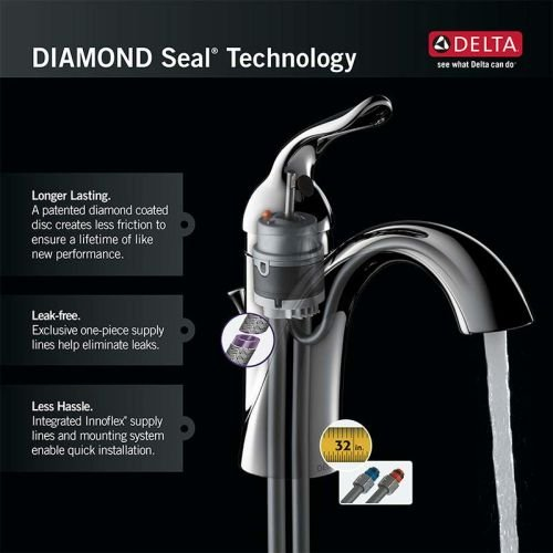 Delta Faucet Linden Single Handle Water-Efficient Pull-Out Kitchen ...