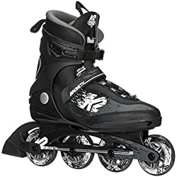 K2 Skate Men's Kinetic 80 Pro Inline Skate, Black White, 8