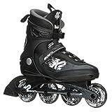 K2 Skate Men's Kinetic 80 Pro Inline Skate, Black White, 8.5