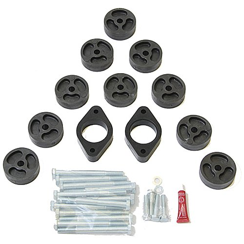 Performance Accessories, Jeep Wrangler 2WD and 4WD JK/JKU 1″ Body Lift Kit, fits 2007 to 2011, PA991, Made in America