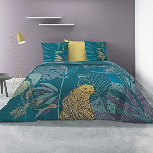 Parure de lit Parure de lit 100/% Coton Parure de lit Haut de Gamme Les Ateliers du Linge/® Wayapi Parure de lit avec Housse de Couette Taies doreiller- 240 x 220 cm Housse de Couette